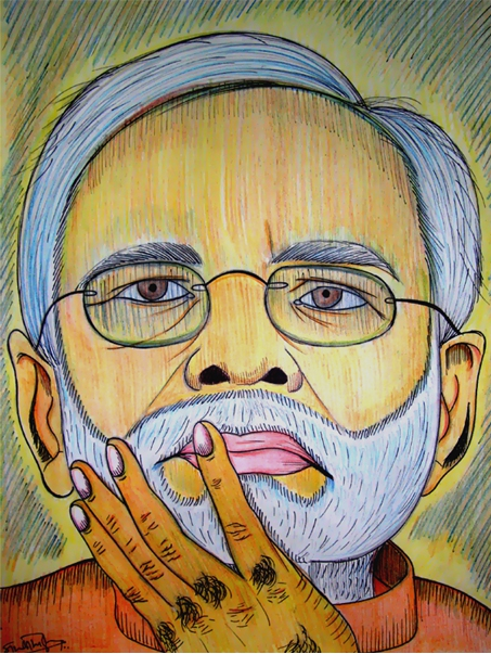 Narendra Modi by siddharthbiyer